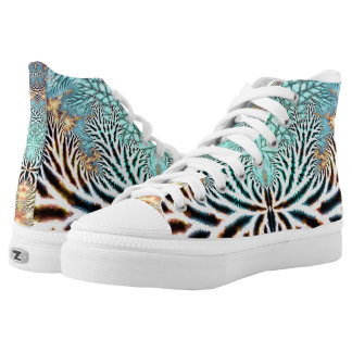 Abstract Spider Webz  High Top Shoe, Skater series