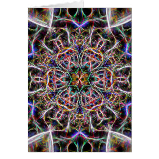Abstract spiky kaleidoscope greeting card