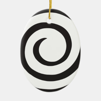 Abstract Spiral Ceramic Ornament