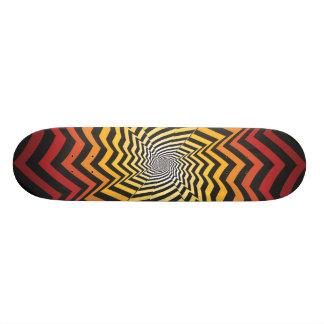 Abstract Spiral Design: Custom Skateboard