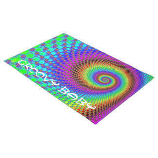 Abstract Spiral Fractal + your ideas Doormat