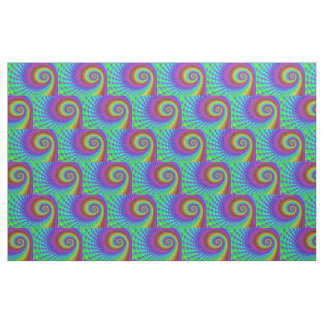 Abstract Spiral Fractal + your ideas Fabric