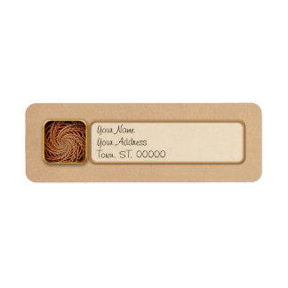 Abstract - Spiral - Mental roller coaster Return Address Label