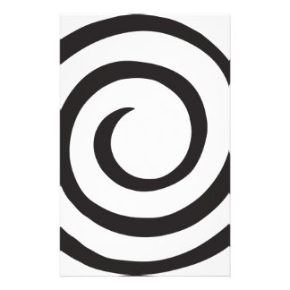 Abstract Spiral Personalized Stationery