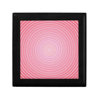 Abstract spiral pink background gift box