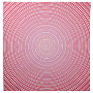 Abstract spiral pink background napkin