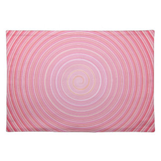 Abstract spiral pink background placemat