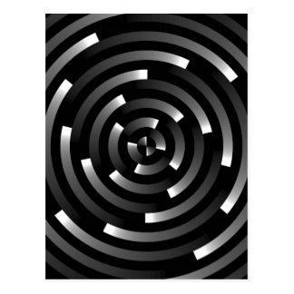 Abstract Spirals A Postcard
