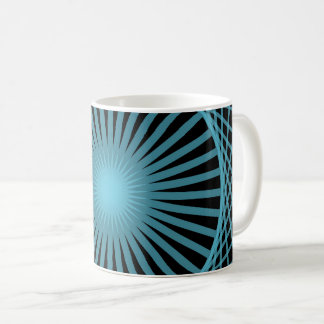 Abstract Spirograph Concentric Circle Pattern Coffee Mug