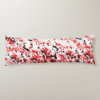 Abstract Splash and Drip Body Pillow