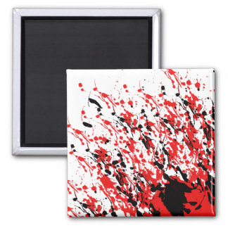 Abstract Splash and Drip Magnet