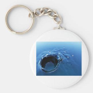 abstract splash basic round button keychain
