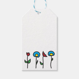 Abstract Spring Flowers Gift Tags Pack Of Gift Tags