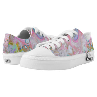 Abstract Spring Pour Low-Top Sneakers