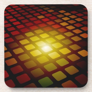 Abstract Square Pattern Beverage Coasters