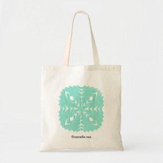 ABSTRACT SQUARE WYCINANKI BL BUDGET TOTE BAG