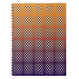 Abstract Squares 10 Spiral Notebook