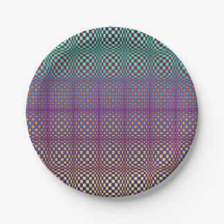 Abstract Squares 3 7 Inch Paper Plate