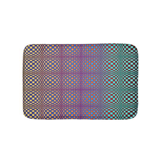 Abstract Squares 3 Bath Mat