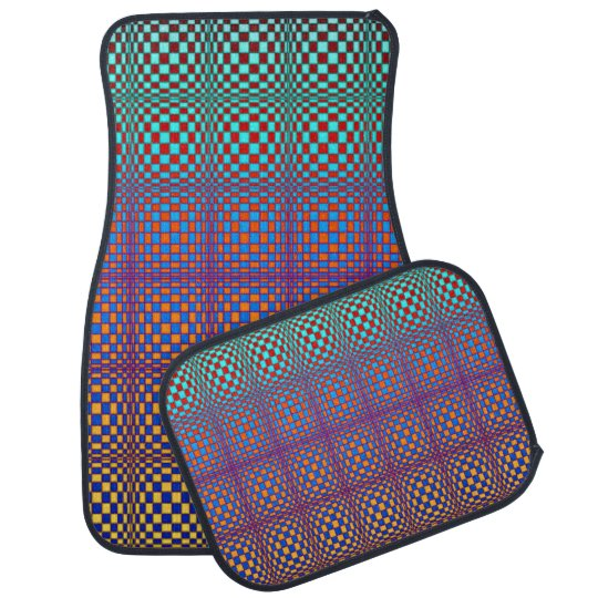Abstract Squares 3 Floor Mat