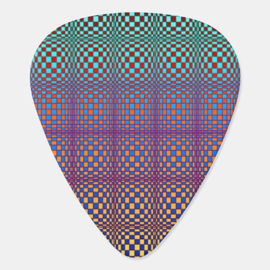 Abstract Squares 3 Guitar Pick