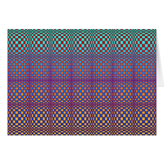 Abstract Squares 3 (landscape) Card