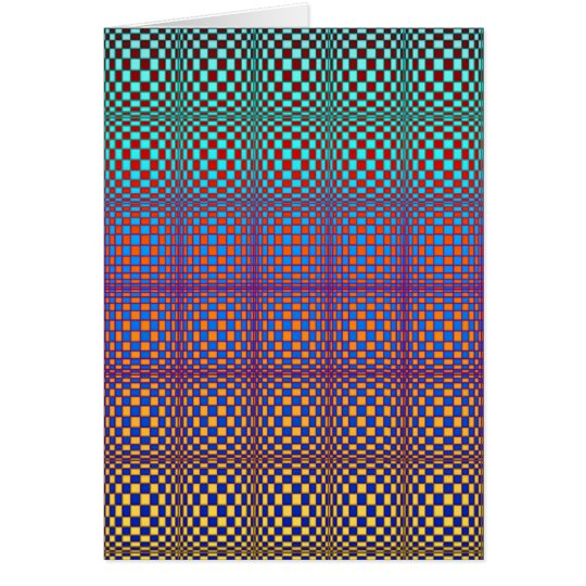 Abstract Squares 3(portrait) Card