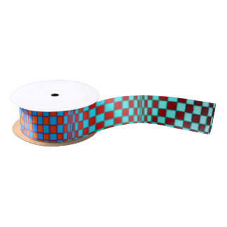 Abstract Squares 3 Satin Ribbon