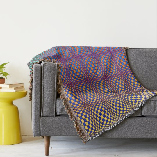 Abstract Squares 3 Throw Blanket