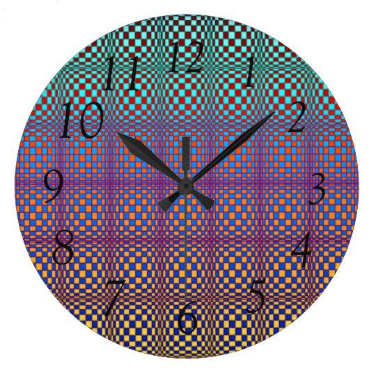 Abstract Squares 3 Wall Clock