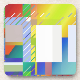 Abstract Squares Beverage Coaster