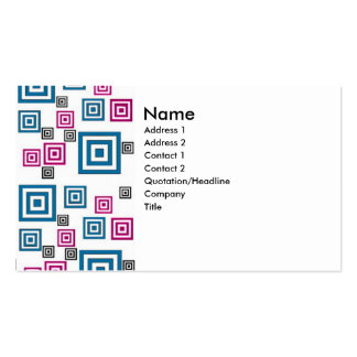 Abstract squares Double-Sided standard business cards (Pack of 100)