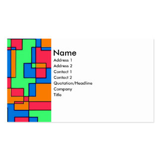 Abstract squares pack of standard business cards