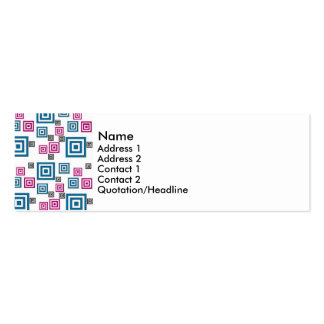 Abstract squares Double-Sided mini business cards (Pack of 20)