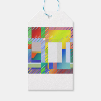 Abstract Squares Gift Tags