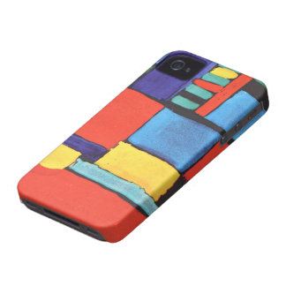 Abstract Squares iPhone 4 Covers