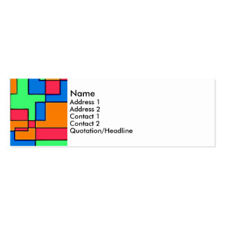 Abstract squares mini business card