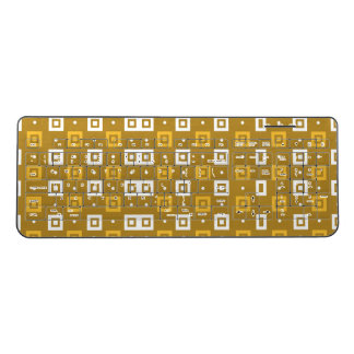 Abstract Squares Pattern Wireless Keyboard