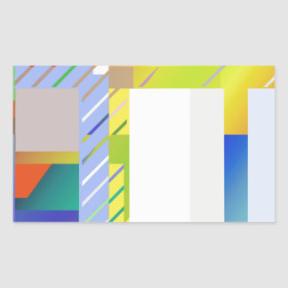 Abstract Squares Sticker