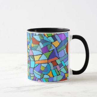 Abstract Stain Glass Design Mug