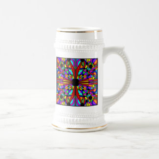 Abstract Stained Ceramic Stein Mug4 Beer Steins
