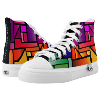 Abstract Stained Glass High Top Sneaker