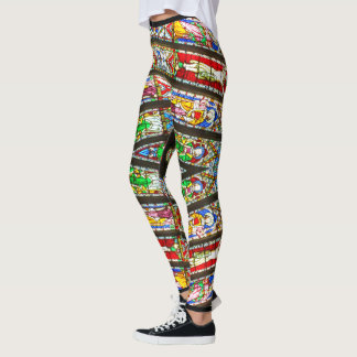 Abstract Stained Glass Leggings