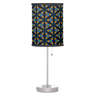 Abstract Stained Glass Pattern Table Lamp