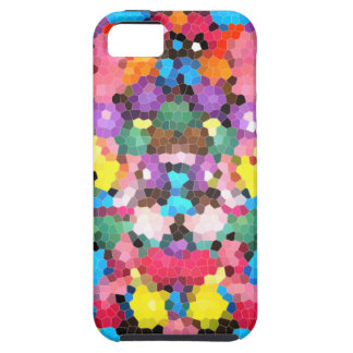 Abstract Stained Glass Vivid Rainbow Candy Mosaic iPhone 5 Cover