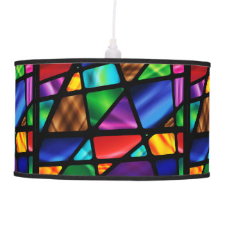 Abstract Stained Glass Window Lamp