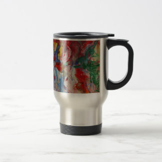 Abstract Stainless Steel Travel Mug