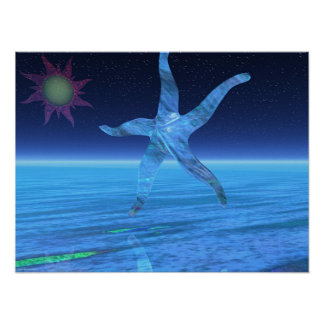 Abstract StarFish Poster
