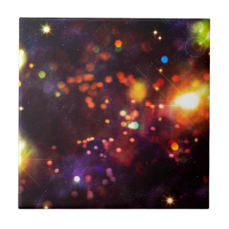 Abstract Starry Background 4 Ceramic Tiles