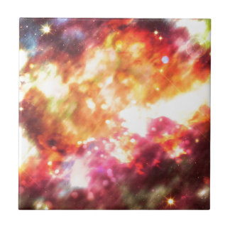 Abstract Starry Background 5 Ceramic Tile